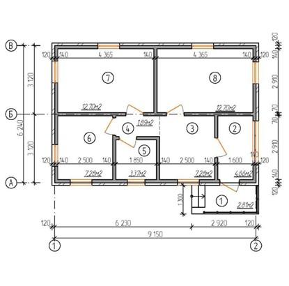"""Одноэтажный жилой дом """"Хоумстед"""""""