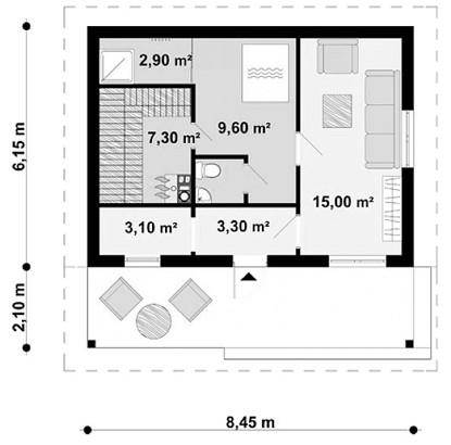 """Одноэтажный жилой дом """"Магнолия"""""""