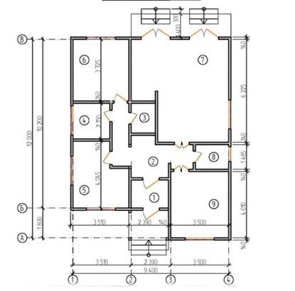"""Одноэтажный жилой дом """"каскад"""""""