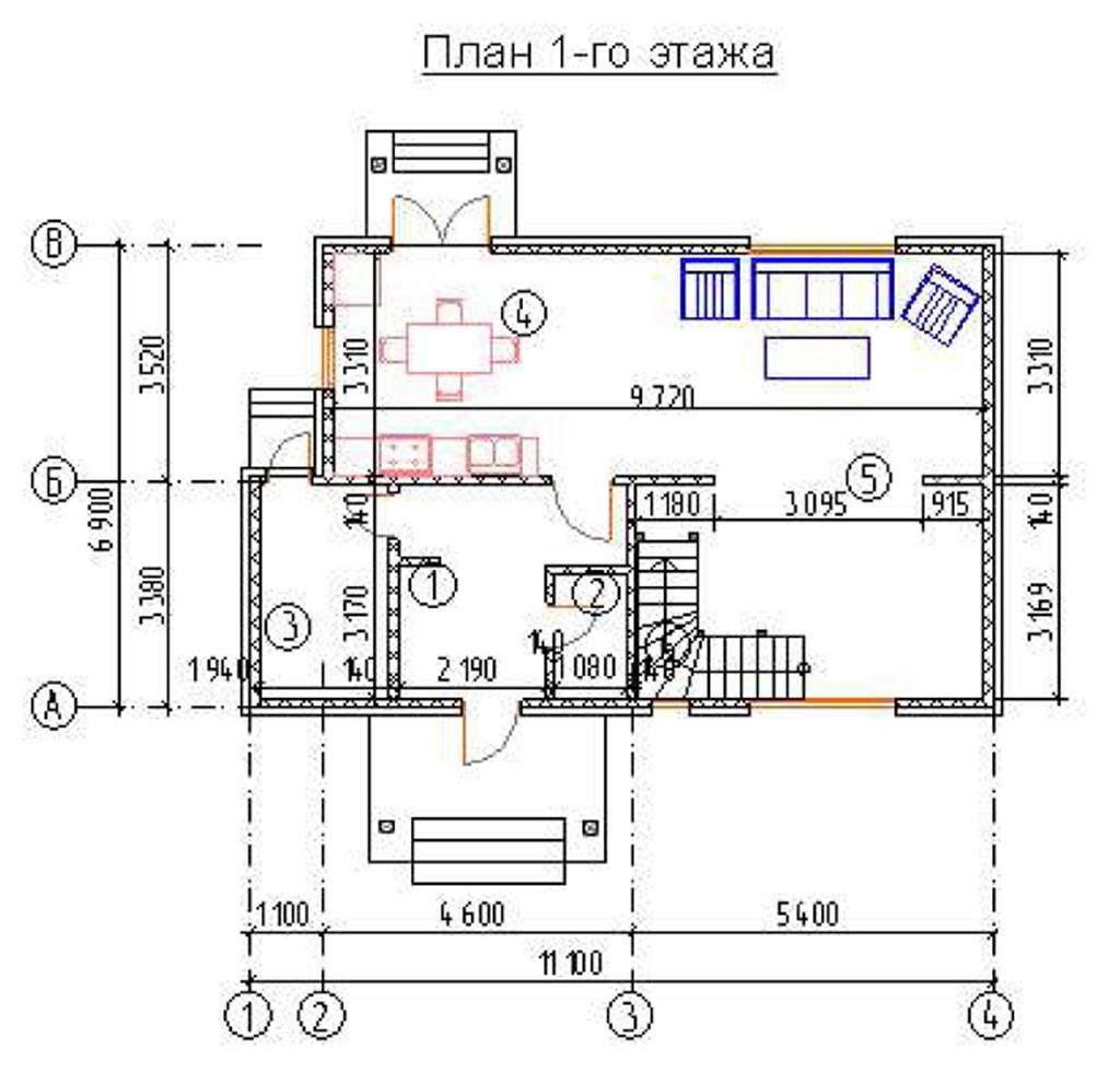 """двухэтажный жилой дом """"наталья"""""""