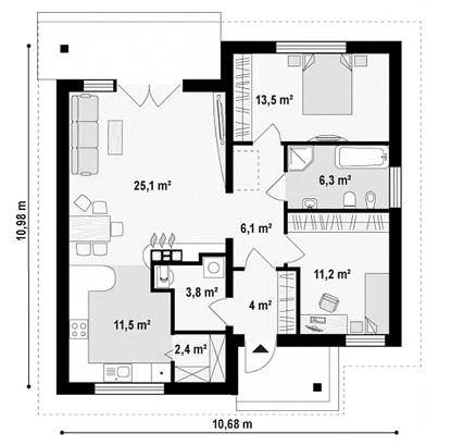 """одноэтажный жилой дом """"Курортный"""""""