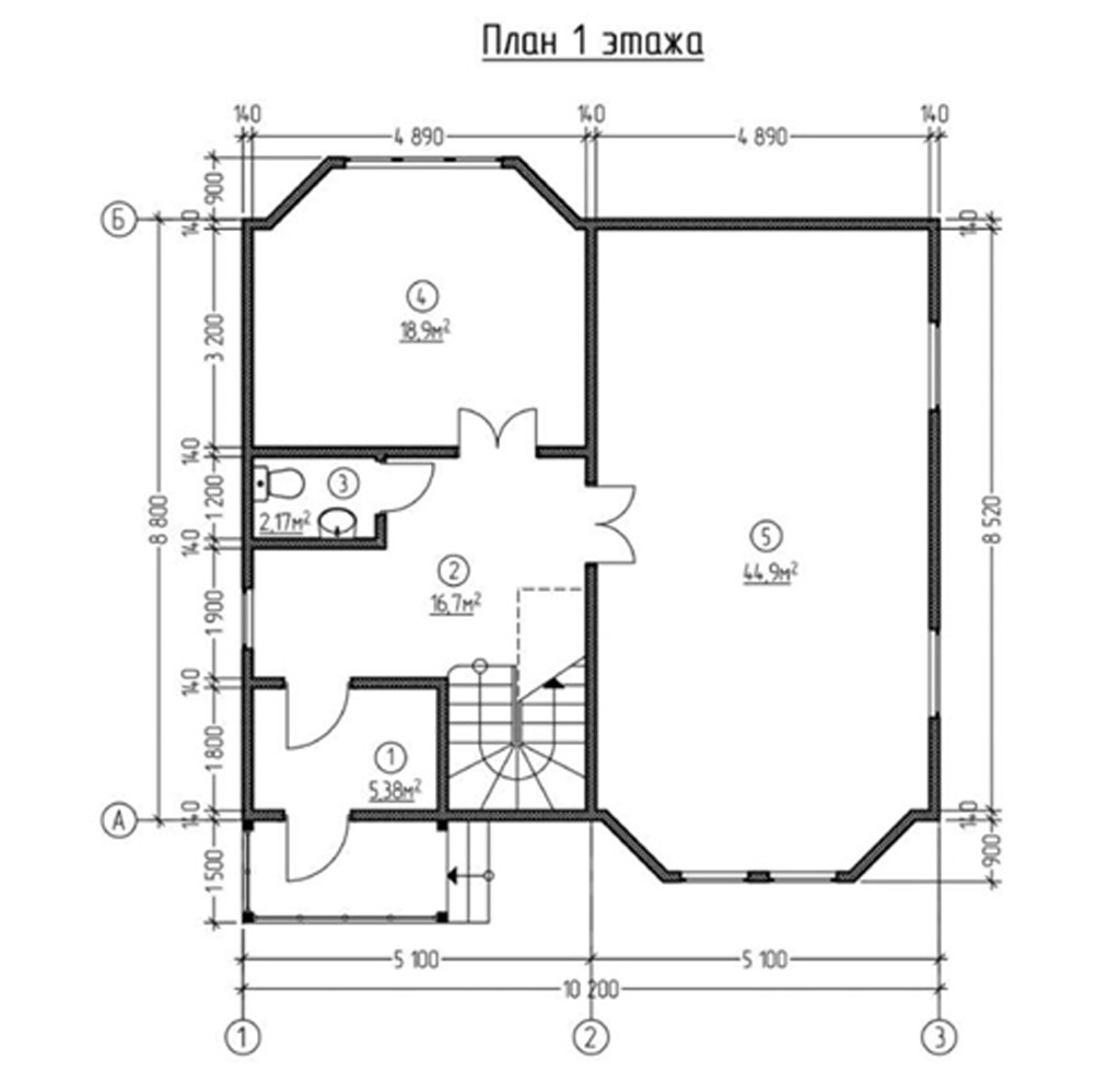 """Двухэтажный жилой дом """"Рада"""""""
