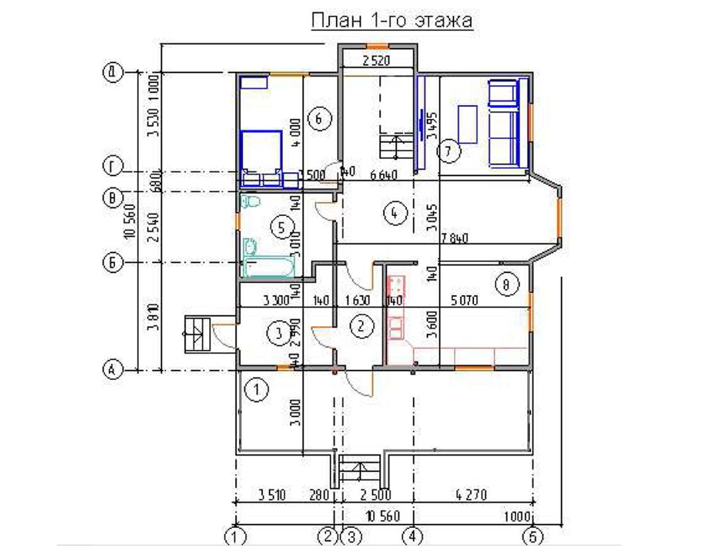 """Двухэтажный жилой дом """"Лидия"""""""