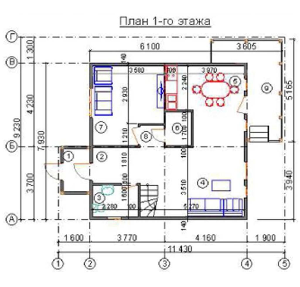 """двухэтажный жилой дом """"лютер"""""""
