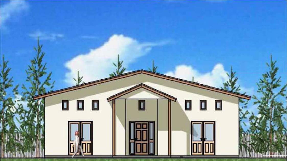 """одноэтажный жилой дом """"доминикана"""""""