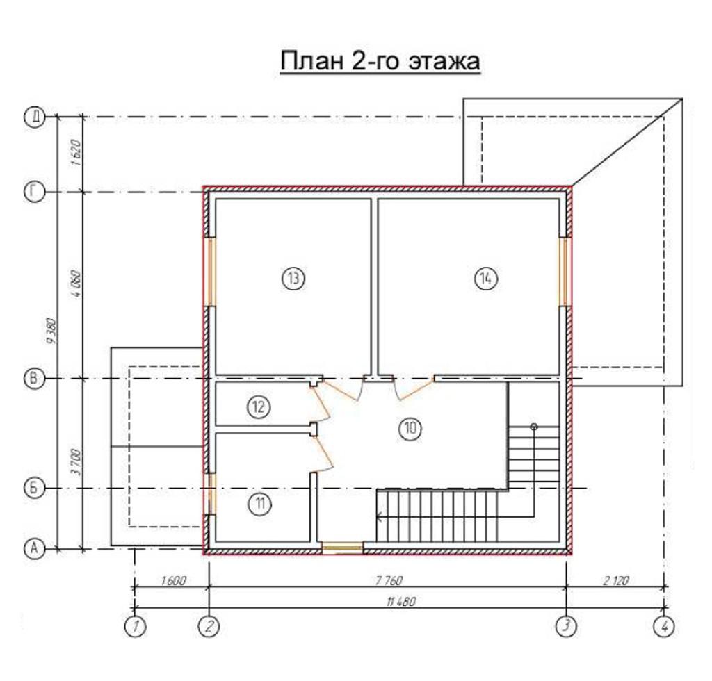 """двухэтажный жилой дом """"татьяна"""""""