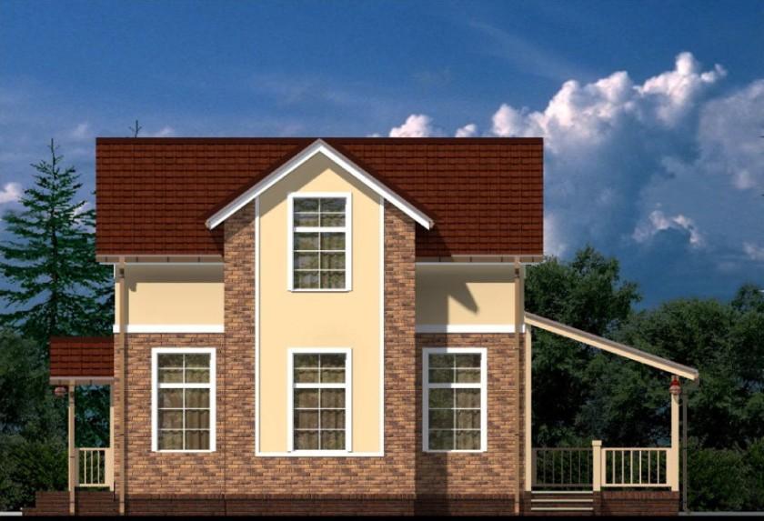 """двухэтажный жилой дом """"песочный"""""""