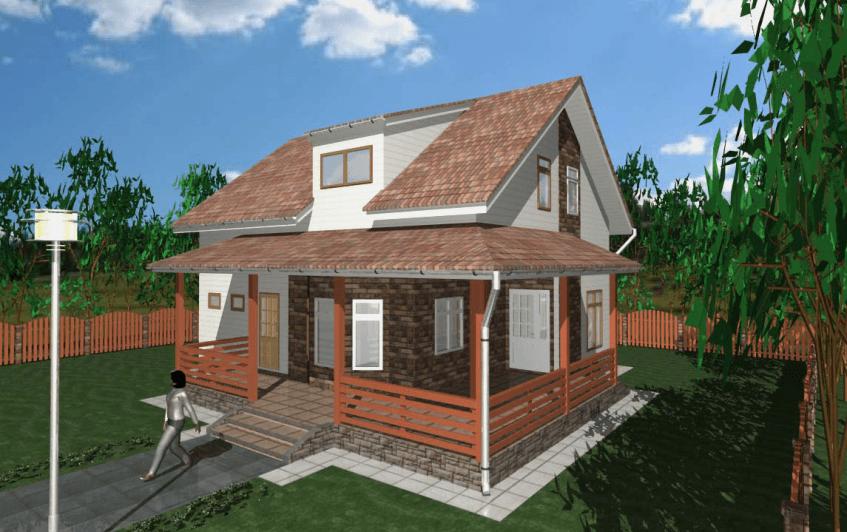 """Двухэтажный жилой дом """"Белоостров"""""""
