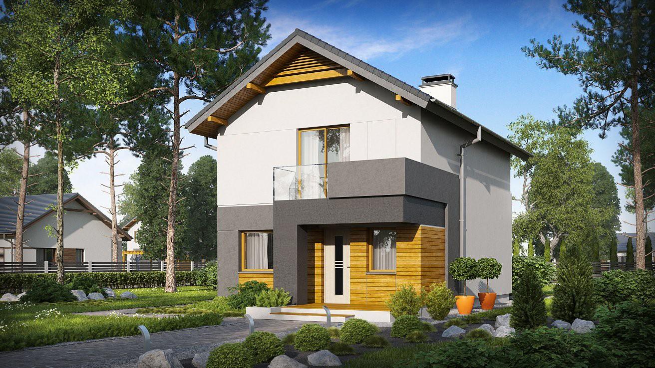 двухэтажный жилой дом платон