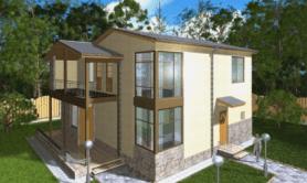 Двухэтажный жилой дом «Марина»