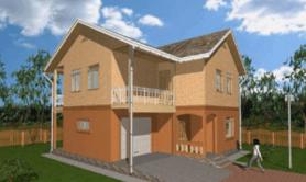 Двухэтажный жилой дом «Солнечный»