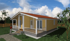 """одноэтажный жилой дом """"Стандарт-65"""""""