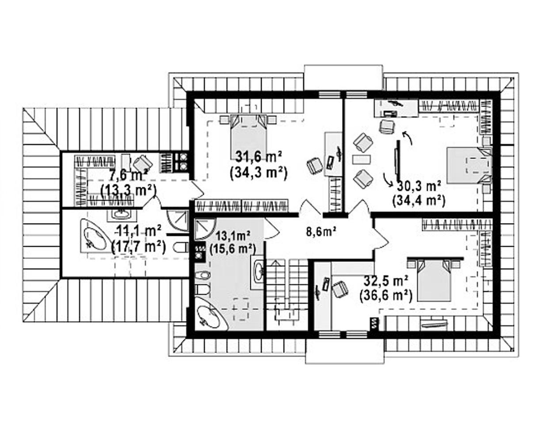 """Двухэтажный жилой дом """"Янтарь"""""""