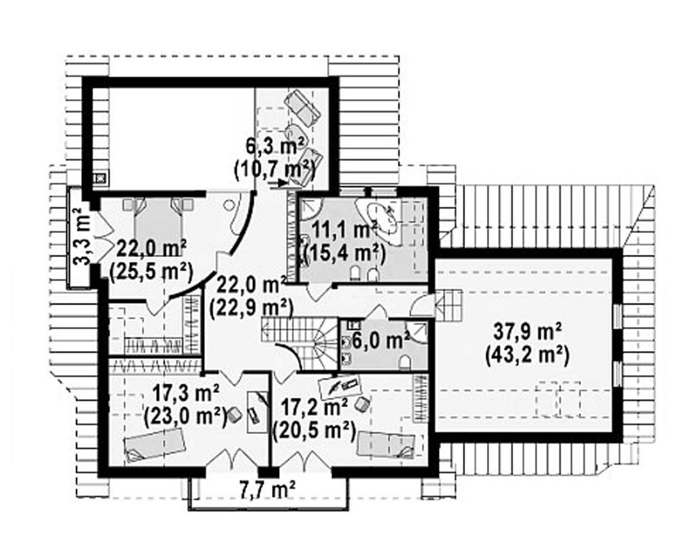 """Двухэтажный жилой дом """"Кристалл"""""""