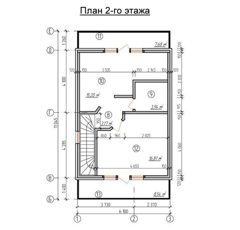 """Сблокированный двухэтажный жилой дом """"Элла"""" на 2 семьи"""