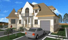 """Двухэтажный жилой дом """"Арфа"""""""