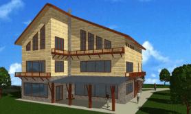 Двухэтажный жилой дом с мансардой «Валентина»