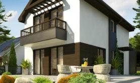 Двухэтажный жилой дом 104,4 м