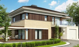 Двухэтажный жилой дом 122,6 м