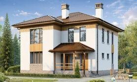 Двухэтажный жилой дом 141,4 м