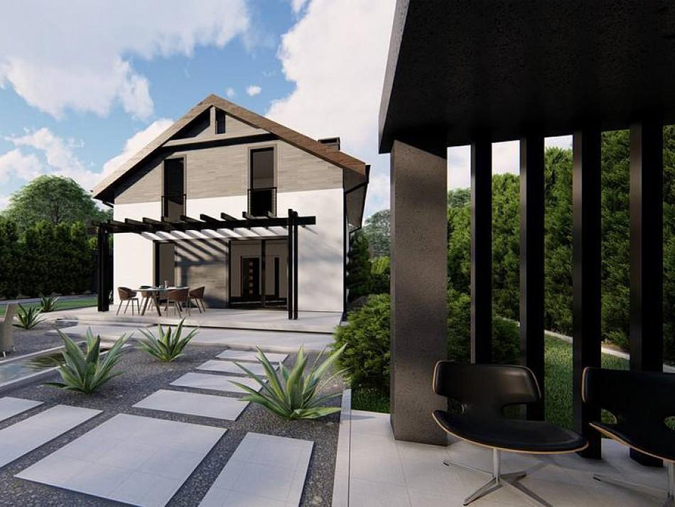 Двухэтажный жилой дом 147,1 м
