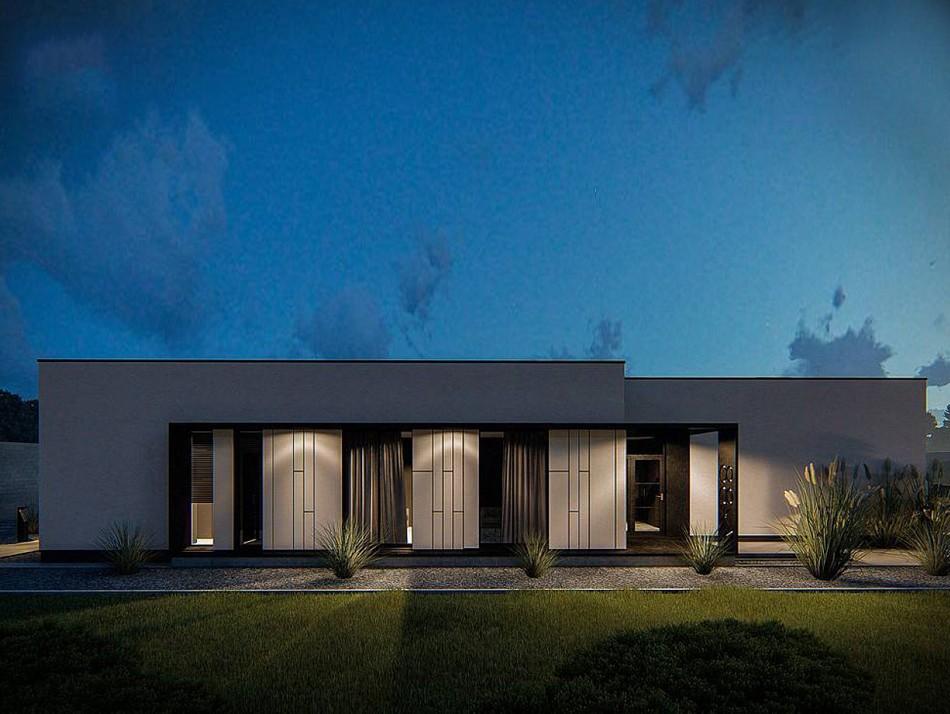 Одноэтажный жилой дом 121,4 м
