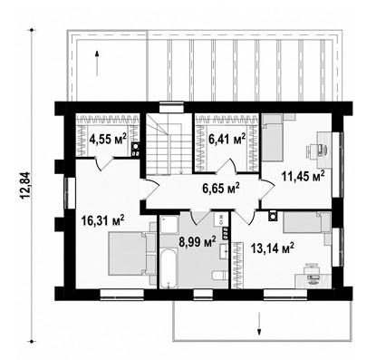 Двухэтажный жилой дом 136,32 м