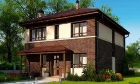 Двухэтажный жилой дом 157 м